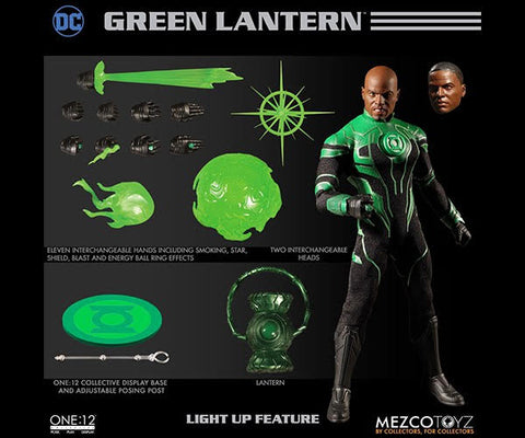 【已截訂】Mezco Toyz DC Comics One12 Collective John Stewart The Green Lantern 1/12 Action Figure