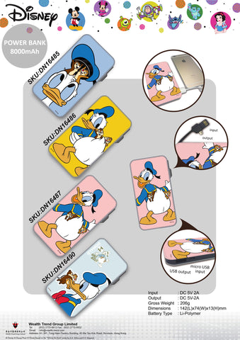 【特價--需預訂】Disney Donald Duck Power Bank 8000mAh
