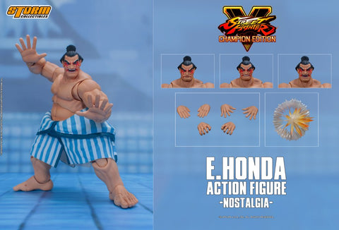 【預訂-數量有限,額滿即止】Storm Collectibles E.HONDA - SFV CHAMPION EDITION 1/12 ACTION FIGURE
