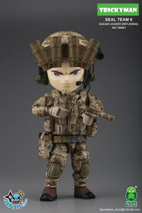 【現貨】Figure Base Tricky Man Seal Team 6 Squad Leader Rifleman Action Figure
