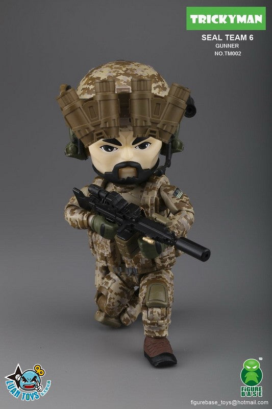 【現貨】Figure Base Tricky Man Seal Team 6 Gunner Action Figure