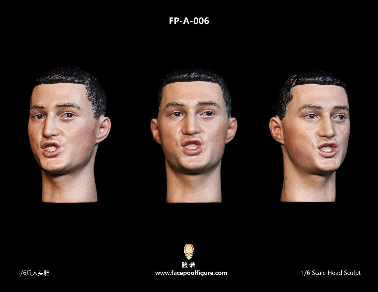 【已截訂】FacepoolFigure 1/6 Asian Male Head Sculpt withExpression FP-A-006