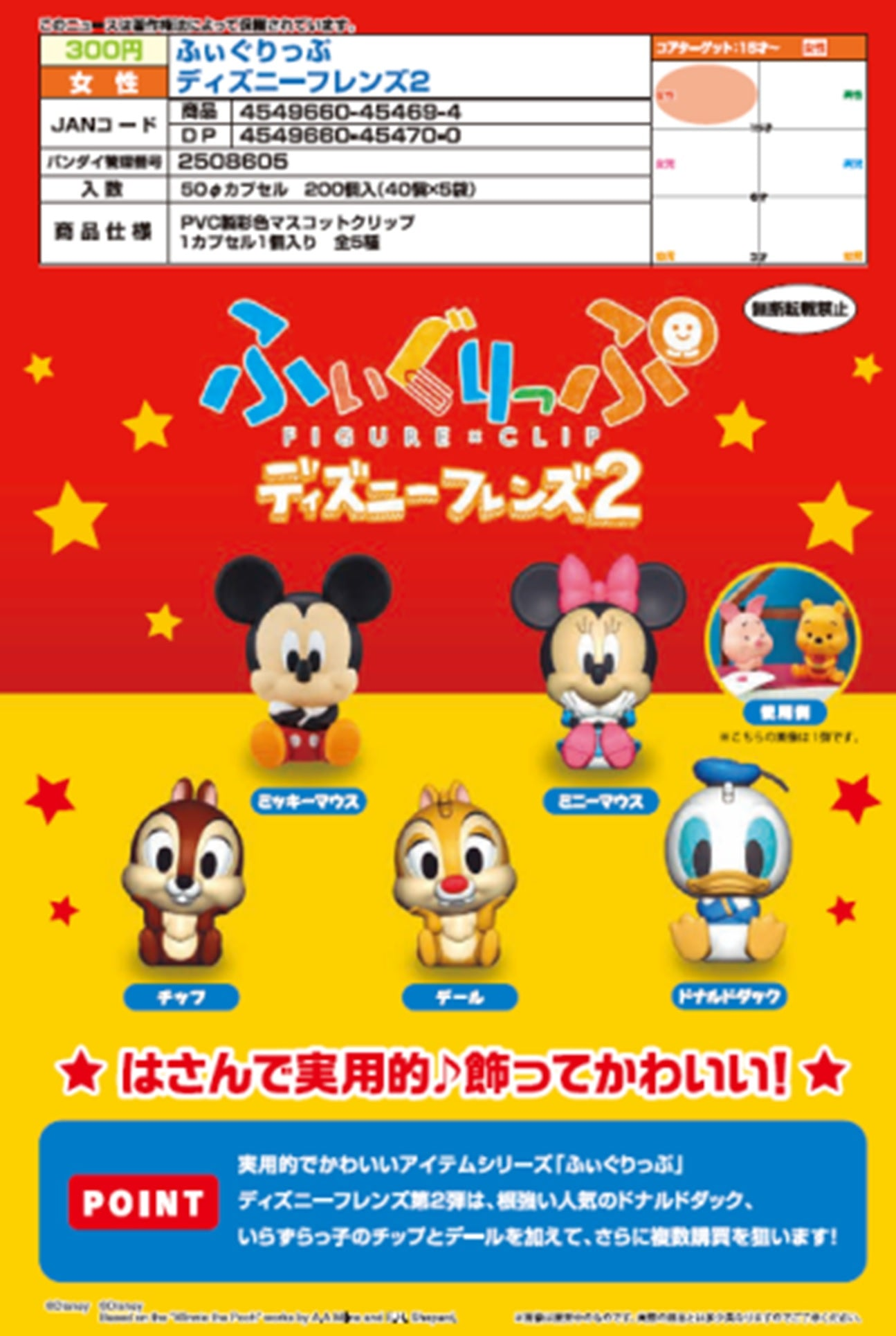 【已截訂】Bandai Figurip Disney Friends 2 [全5種]