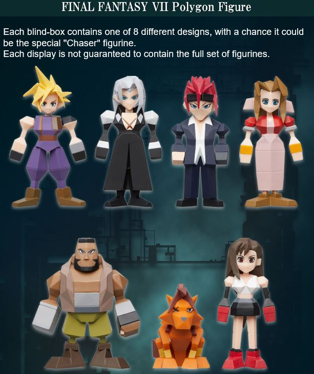 【已截訂】Square Enix Final Fantasy VII Polygon Figure (Box of 8)