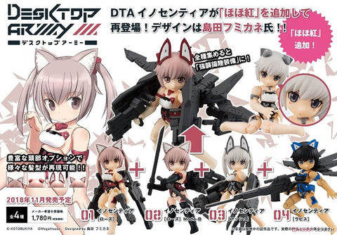 【已截訂】Mega House Frame Arms Girl Desktop Army Frame Arms Girl KT-322f Innocentia Series Ver1.2 Action Figure [全4種]