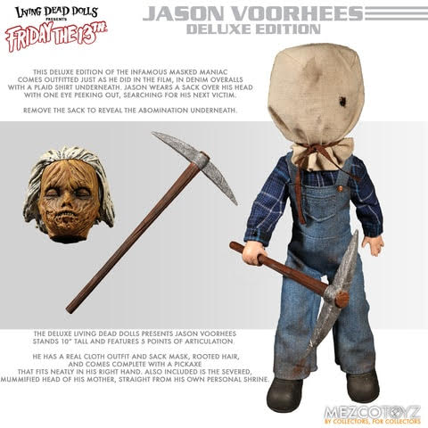 【已截訂】Mezco Toyz Friday the 13th Deluxe LDD Jason Voorhees Action Figure Doll