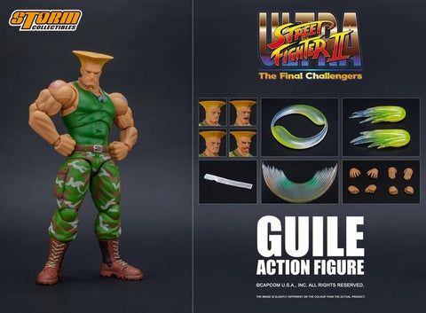 GUILE - ULTRA STREET FIGHTER II ACTION FIGURE | 街頭霸王II 軍佬 | Storm Collectibles【現貨】
