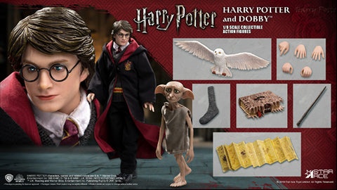【已截訂】STAR ACE Toys Harry Potter - Harry School Uniform & Dobby 1/8 Action Figure