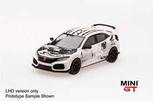 【已截訂】TSM Model MINI-GT Honda Civic Type R (FK8) ArtCar Manga - 2018 Paris Autoshow 1/64 Diecast Car