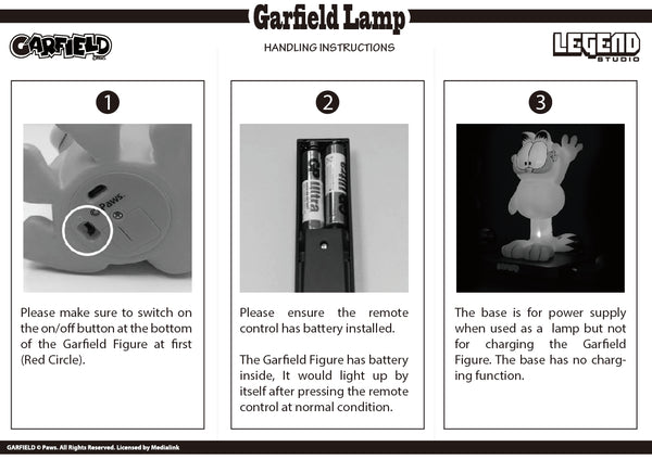 【售完】Legend Studio Garfield Lamp B Standing