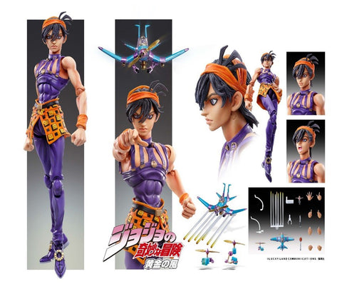 【已截訂】Medicos JoJo`s Bizarre Adventure Super Figure Action Narancia Ghirga & As Aciton Figure [再販]