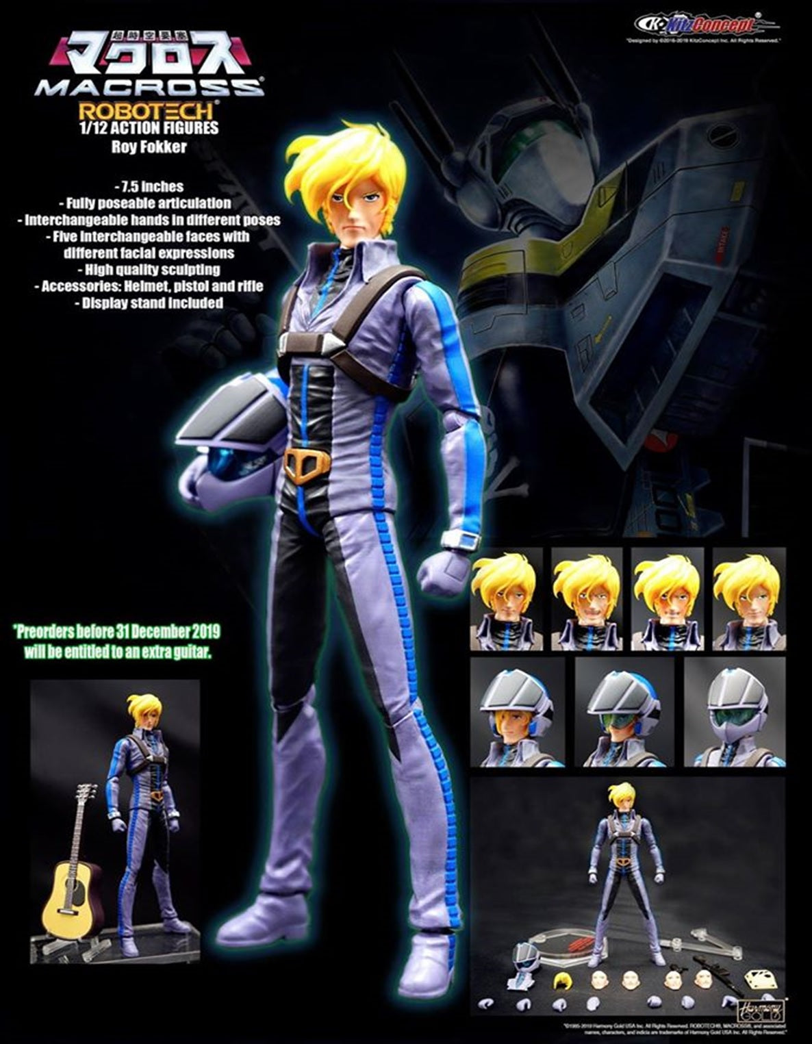 【已截訂】KitzConcept MACROSS 1/12 ACTION FIGURES- ROY FOKKER Action Figure [付全訂包本地順豐運費]