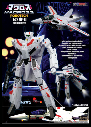 【預訂日期至29-Jul-19】KitzConcept MACROSS Robotech 1/72 VF-1J Rick Hunter Action Figure