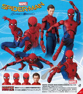 【已截訂】MEDICOM TOY MAFEX Spider-Man Homecoming Spider-man (HOMECOMING Ver. 1.5) Action Figure