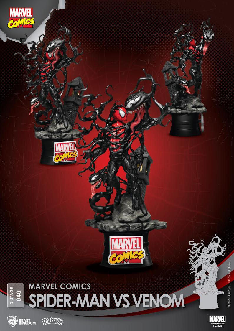 【已截訂】Beast Kingdom MARVEL COMICS-SPIDER-MAN VS VENOM PVC Figure