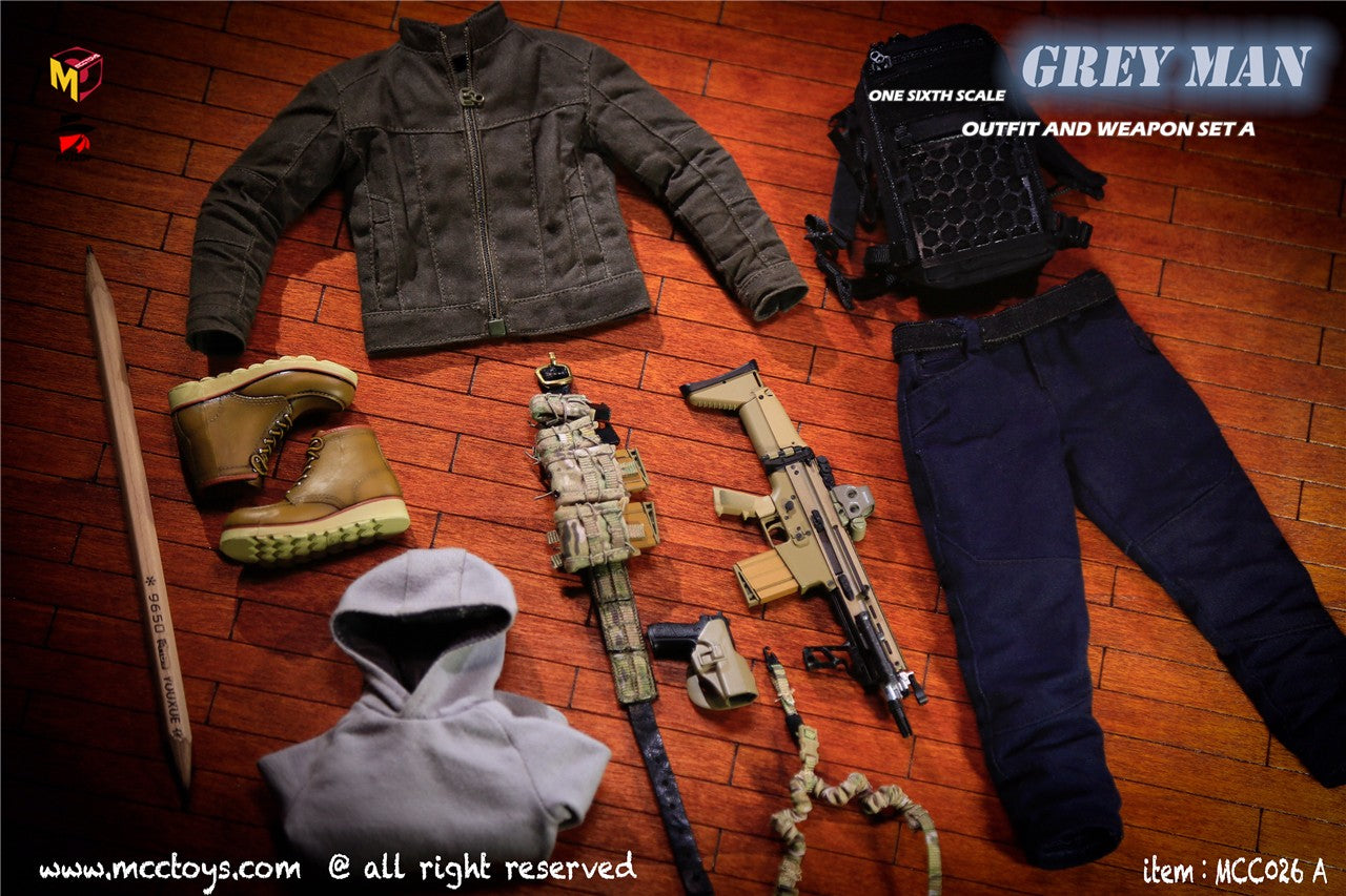 【已截訂】MCCTOYS GREYMAN outfit and weapon MCC026A 1/6 Parts