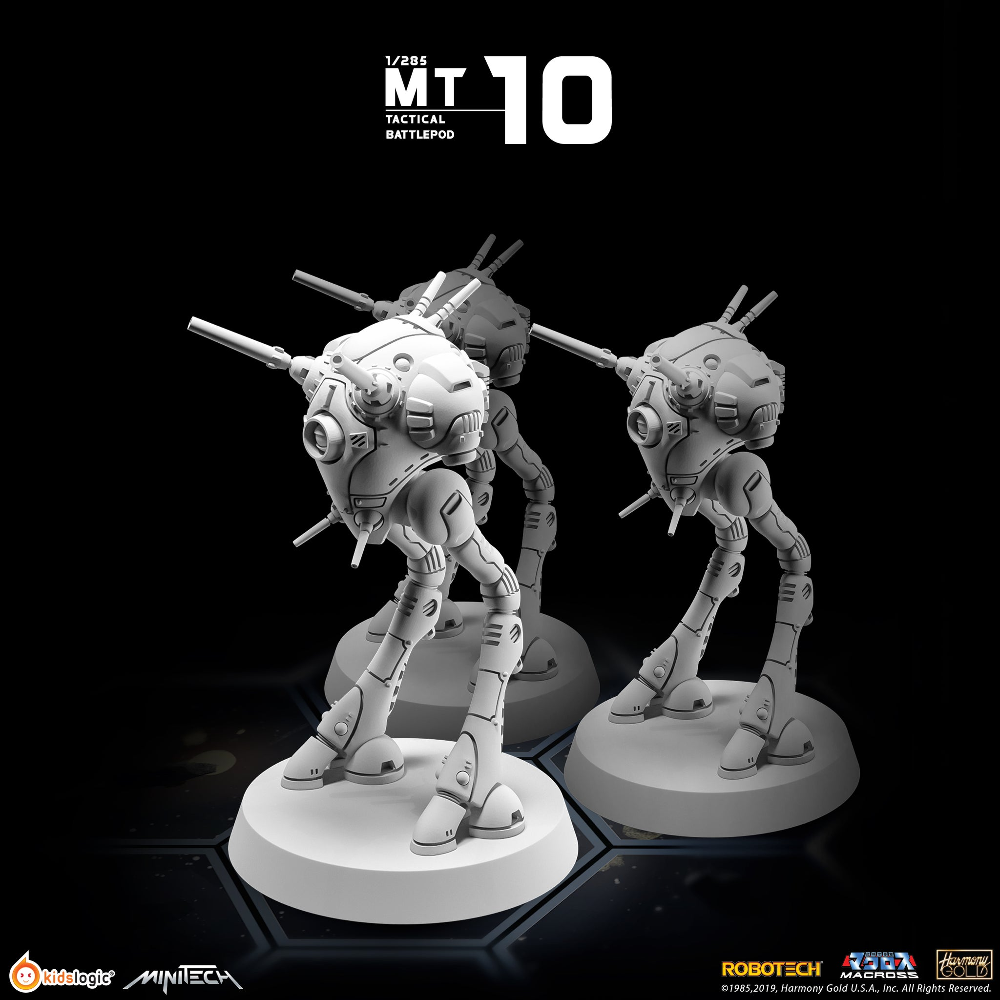 【已截訂】Kids Logic MT10 Robotech Macross Tactical Battlepod 1-285 (Set of 3) Figure