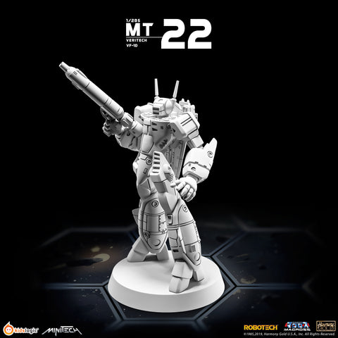 MT22 Robotech Macross Veritech VF-1D Battloid Mode | MiniTech | Kids Logic【現貨】