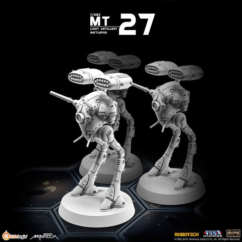 Kids Logic Minitech MT27 1/285 Robotech Macross Light Artillery Battlepod (Set of 3)【現貨】