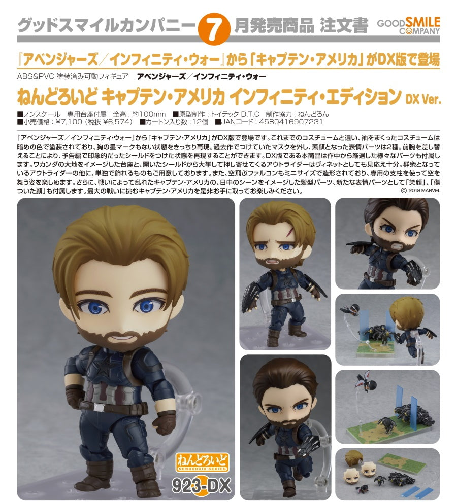 【已截訂】GSC Good Smile Company Nendoroid No.923DX Marvel Captain America Infinity Edition [DX Ver.]