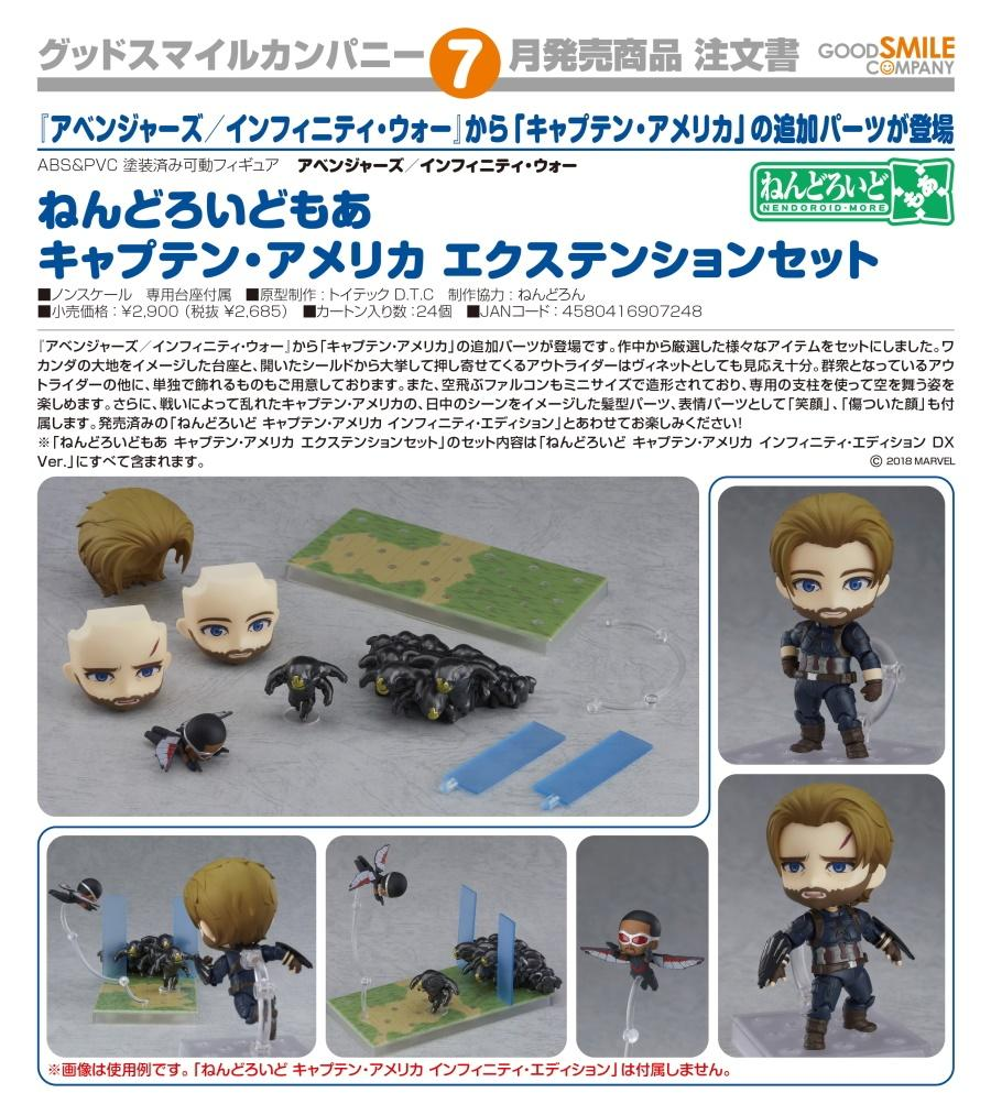 【現貨】GSC Good Smile Company Nendoroid More Captain America Extension Set