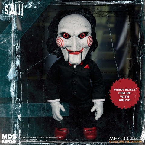 【已截訂】Mezco Toyz MDS Mega Scale Saw Talking Billy Action Figure