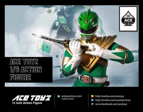 【已截訂】Ace Toyz Mighty Morphin Power Rangers Green Ranger 1/6 Action Figure