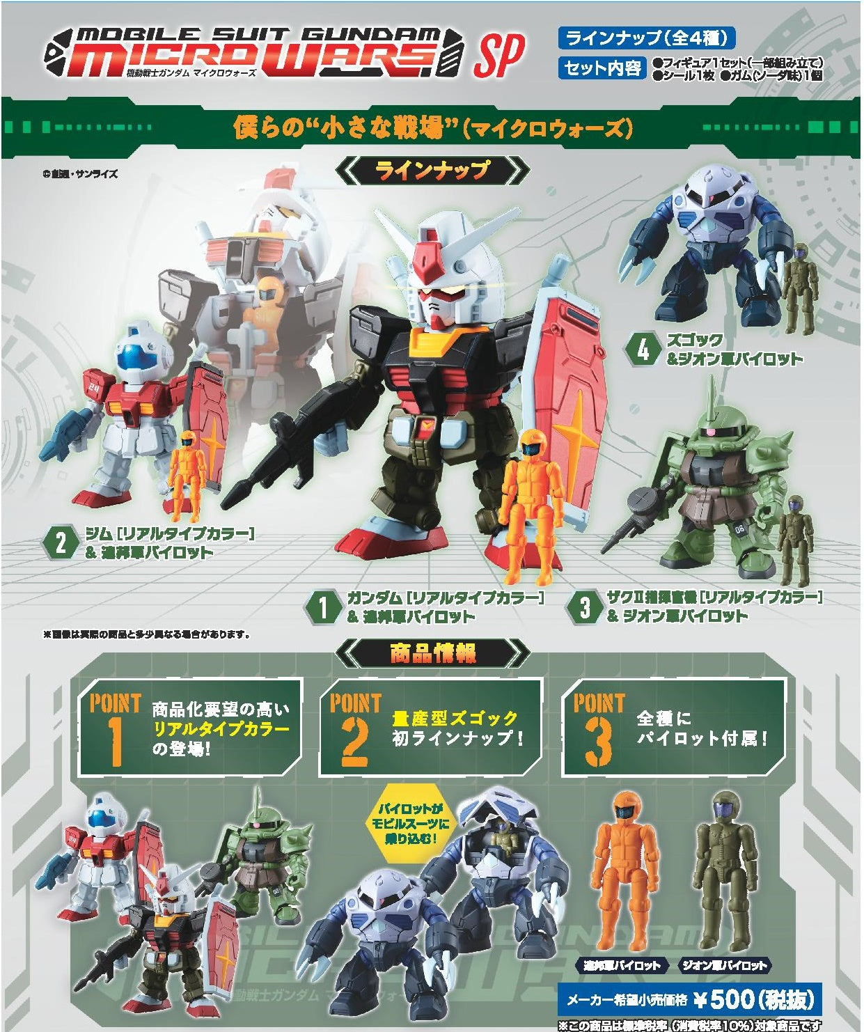 【已截訂】Bandai Mobile Suit Gundam Micro Wars SP [原盒4入]