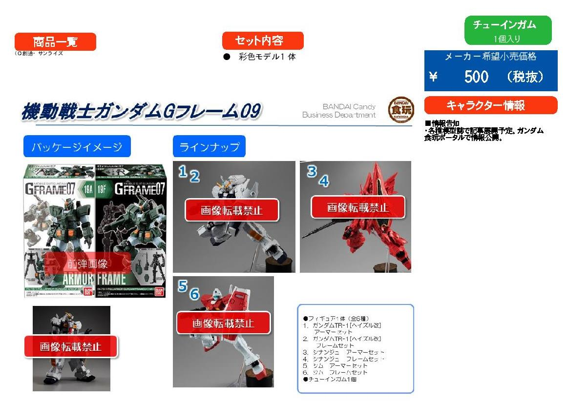 【已截訂】Bandai Mobile suit GUNDAM G-Frame 09 Set [全6種]