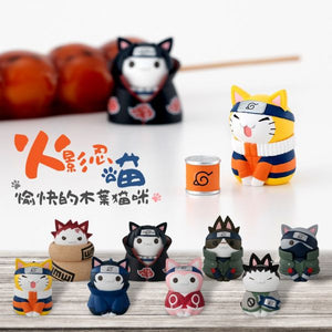 【預訂日期至21-Nov-19】Mega House NARUTO-NYARUTO! CATS of KONOHA VILLAGE with premium can mascot [原盒]
