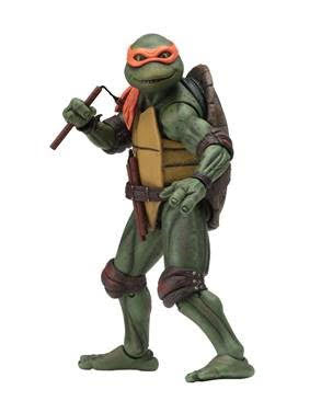 【已截訂】NECA~Teenage Mutant Ninja Turtles – 7'' Scale Action Figure – 1990 Movie Michelangelo