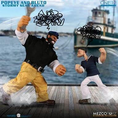 【已截訂】Mezco Toyz One 12 Collective Popeye & Bluto - Stormy Seas Ahead Deluxe Box Set 1/12 Action Figure