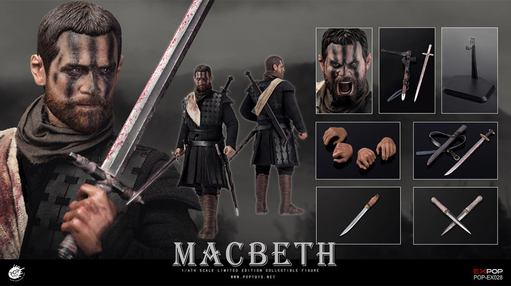 【已截訂】POPTOYS Television series EX028 Macbeth with two heads 1/6 action figure