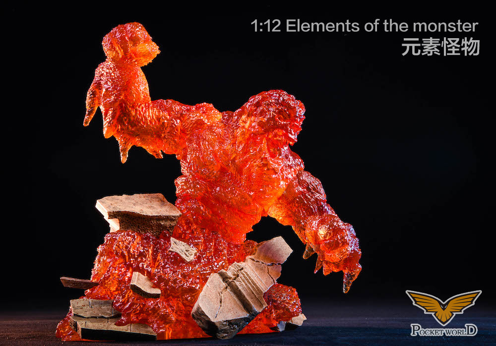 【已截訂】Pocket World PW2011A red  1/12  Elements  of  the  monster Figure
