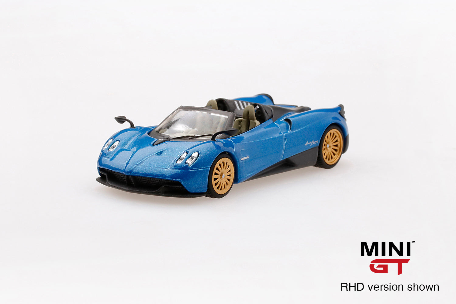 【已截訂】TSM Model MINI-GT Pagani Huayra Roadster Blue Francia - RHD 1/64 Diecast Car