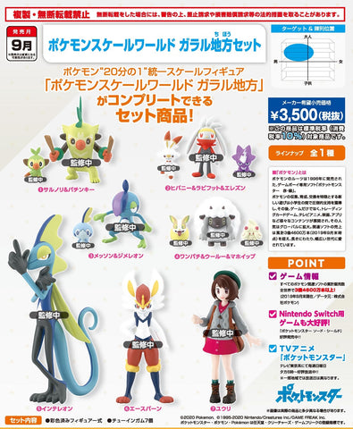 【預訂】Bandai Pokemon Scale World Gararu Area Set