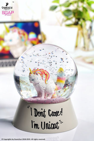 Rainbow Ice Cream Unicat Snow Globe ZS002 | 水晶球 | Soap Studio【現貨】