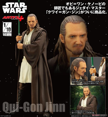 【已截訂】Kotobukiya STAR WARS - THE PHANTOM MENACE Artfx Qui-Gon Jinn 1/10 PVC Figure
