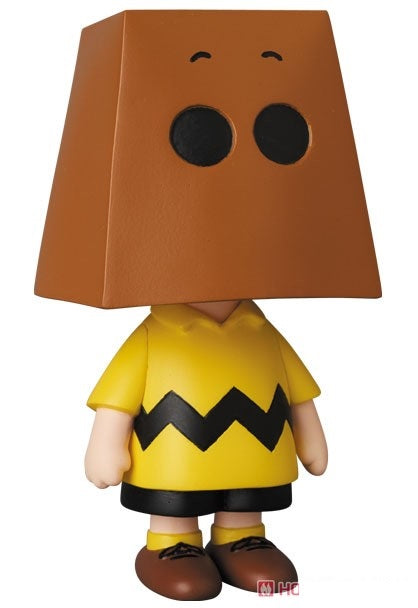 【已截訂】MEDICOM TOY Snoopy UDF No.490 Peanuts Series 10 Charlie Brown (Grocery Bag Ver.) Figure