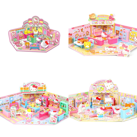 【現貨】Sanrio Hello Kitty Coffee Shop Burger Shop Convenience Store Ice-Cream Shop