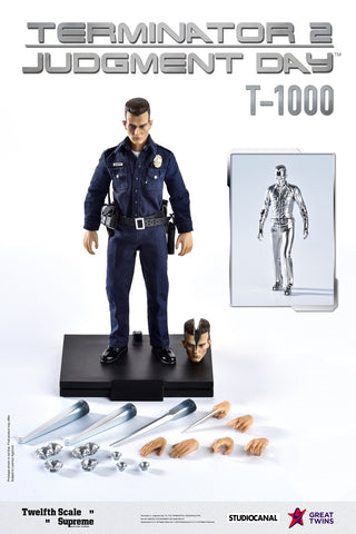 【已截訂】Great Twins Terminator 2 Judgement Day T-1000 Exclusive Version 1/12 Action Figure