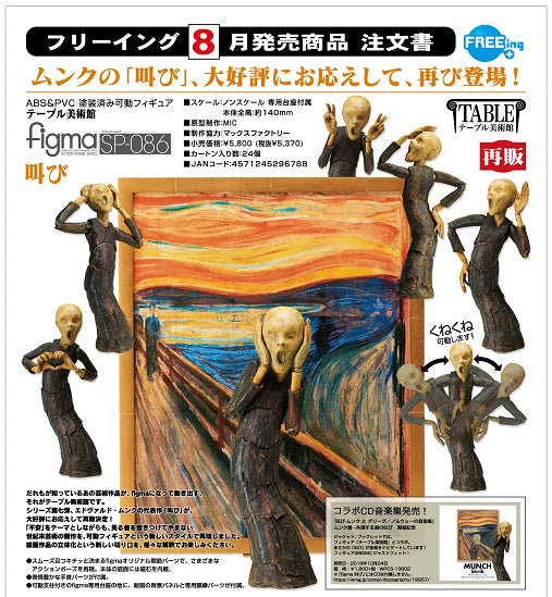 【 已截訂】FREEing Figma No.SP086 The Table Museum The Scream Action Figure [再販]