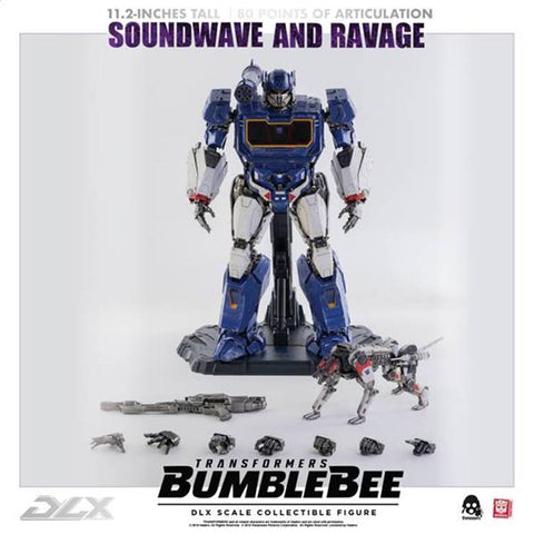 【預訂-數量有限,額滿即止】Threezero 3A Transformers Bumbleebee - DLX Soundwave and Ravage Action Figure