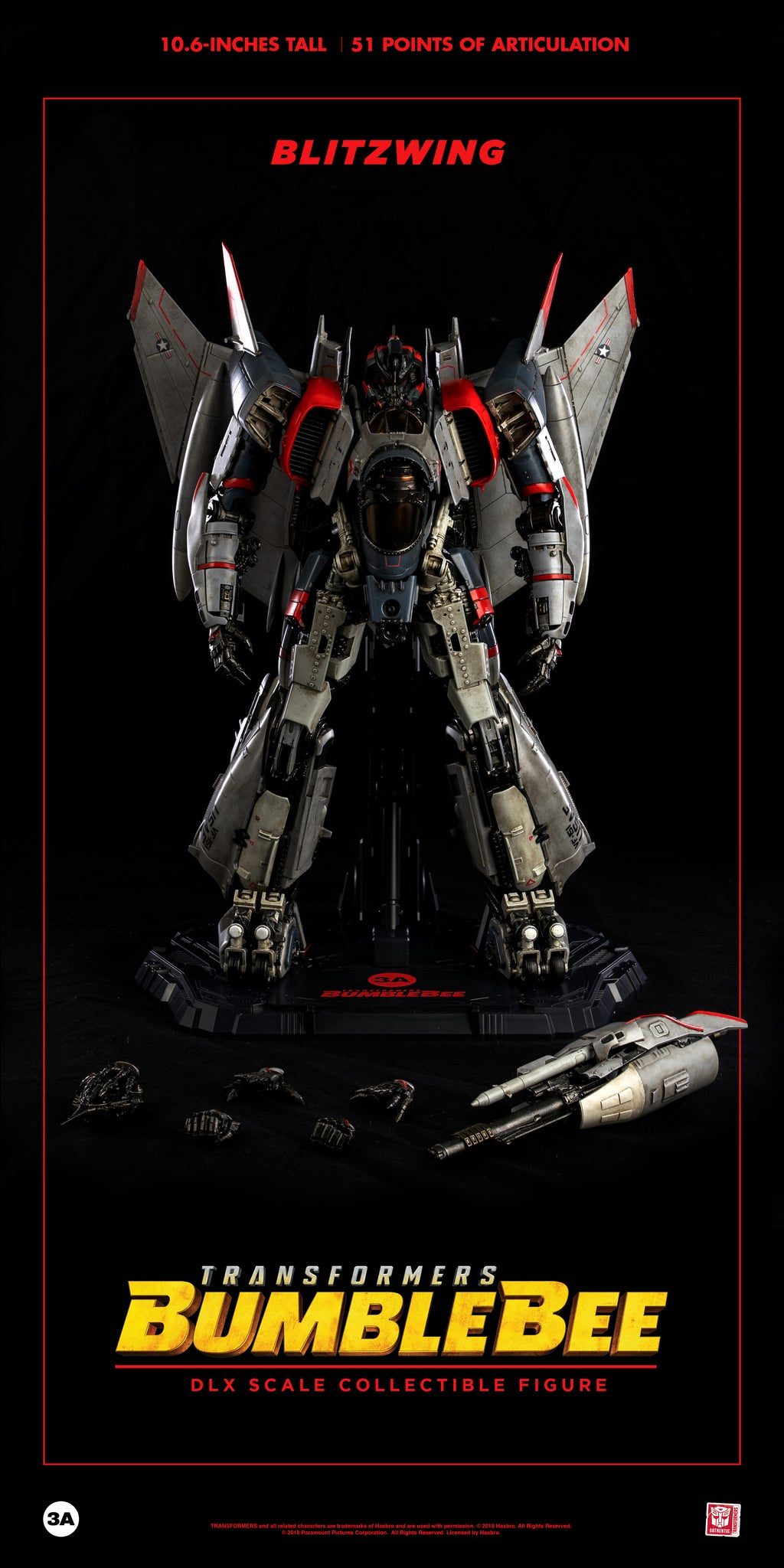 【已截訂】ThreeA 3A Transformers DLX Scale Blitzwing Action Figure