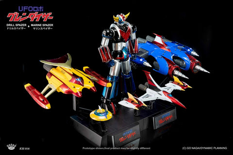 【預訂日期至29-Aug-19】King Arts UFO Robo Grendizer Drill Spazer & Marine Spazer Action Figure [不包巨靈神本體]