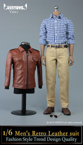 【已截訂】VORTOYS Men's  Retro Leather suit 1/6 Clothing [不包素體支架]