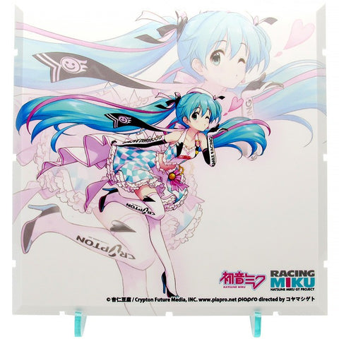 【已截訂】PLM Vocaloid Dioramansion 150 Racing Miku Pit 2019 Optional Panel Key Visual 2