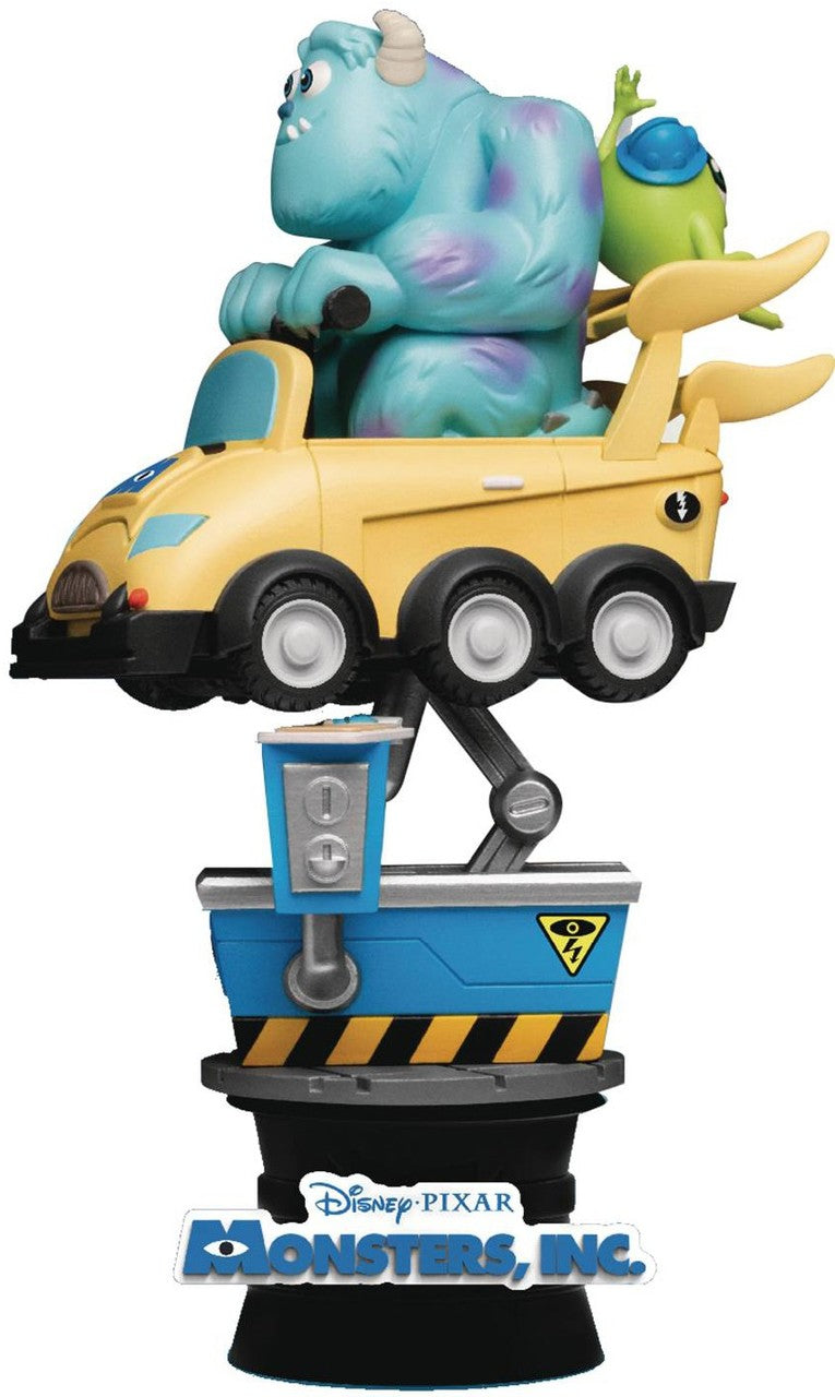 【已截訂】Beast Kingdom~Diorama Stage-037-Monsters, Inc. Coin Ride  PVC Figure