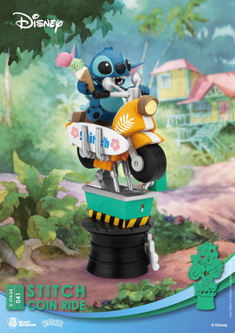 【預訂日期至11-Jul-20】Beast Kingdom~Diorama Stage-041-Stitch Coin Ride PVC Figure