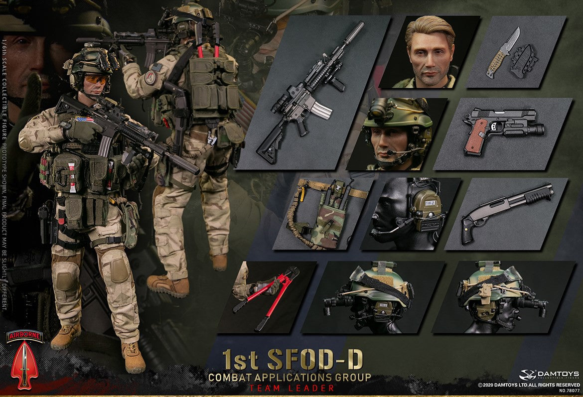 【已截訂】DAMTOYS 1/6 1st SFOD-D  Combat Applications Group TEAM LEADER Action Figure